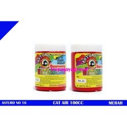 ASTURO cat air merah hati / cat poster / water base no 16 100cc