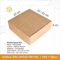 Dus Pizza Kotak Box Packing Karton Corrugated 22x22x8cm TC-PZ222208