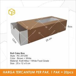 Roll cake Packaging Cake box Kotak Dus Kemasan Brownies TC-RC251206