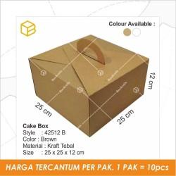 Dus kue, cake box, Kemasan, Kotak, Packaging, Gable box TC-42512 BROWN - Cokelat