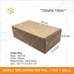 Packing box Dus kemasan Kotak Rollcake TC - 422116 TANPA TRAY - Box