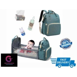 Tas Popok Diaper Botol Susu Tas Kasur Bayi Baby Diaper Bag-Travel Bed