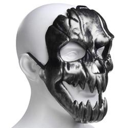 Topeng SKULL - Tengkorak - Halloween - Skeleton - Abu-abu
