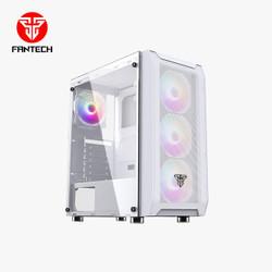 Fantech AERO CG80 Mid Tower Desktop Case 4 Rainbow Fans Included - Putih