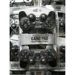 stik pc / gamepad usb double hitam kualitas super