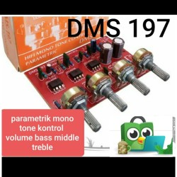 dms 197 parametrik tone kontrol control mono middle toa vokal midrange