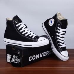 Converse Chuck Taylor All Star High Black White Hitam Original Premium