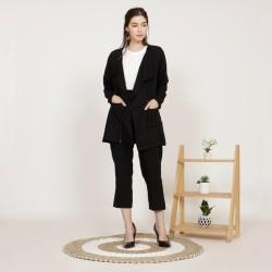Yoenik Apparel Gaya Cotton Blazer Black M15626 R98S3