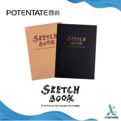 POTENTATE Sketch Book - Craft & Black - 142X210mm
