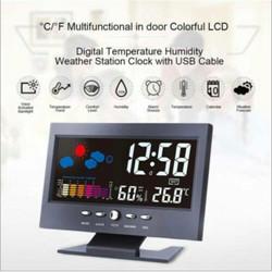 Jam Alarm Digital Multifungsi dengan Lampu LED jam meja kantor jam8082
