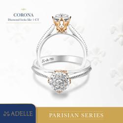 Corona Diamond Ladies Ring - Cincin Berlian - Adelle Jewellery