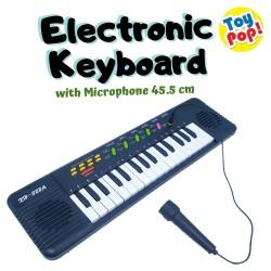 Mainan Anak Eletronik Keyboard 45cm dengan Microphone