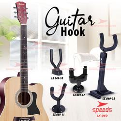 Alat Musik Stand Gitar Dinding Tembok Guitar Mount Bracket Hook 049-10