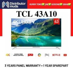 TCL Led Android Smart Digital TV 43A10 4k UHD HDR 43 Inch