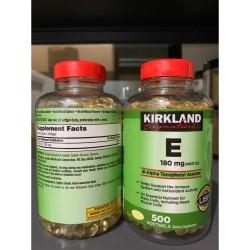 Kirkland Vitamin E 400 IU 100% 500 Softgels Kirkland Signature USA ORI