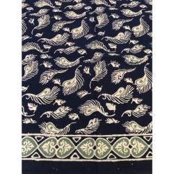 KAIN BATIK CAP FEATHER INDIGO SERIES (BATIK KAIN KAMI)
