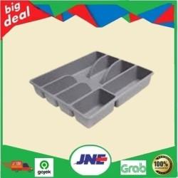 SMCKR Cutlery tray, Baki Tempat Peralatan Makan/Sendok/Garpu, abu abu