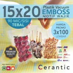 Plastik Vacum Krisbow ACE 15x20 / Vacuum Bag Embossed