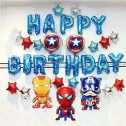 SET Balon Foil Avengers Happy Birthday / Dekorasi Ulang Tahun