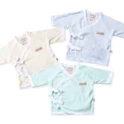 Atasan Kimono Bayi - CHIYO - Polos Warna Newborn - Biru