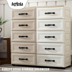 Angola Lemari Plastik C04 Laci/Drawer Cabinet Susun Penyimpanan Eropa
