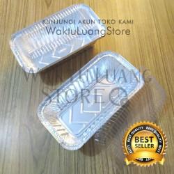 (+ TUTUP ) Aluminium Foil Tray OIV 670 670/45 Persegi Panjang 10x20