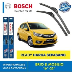 "Wiper Blade Mobilio Brio BOSCH frameless ADVANTAGE 16-22"" ORIGINAL"