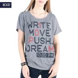 Kaos Lengan Pendek Wanita / Push Dream Misty Tee 12021P9MI - 10PM