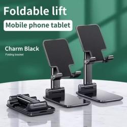 Foldable Lift Lipat Mobile Phone Holder Tablet Folding Desktop Stand