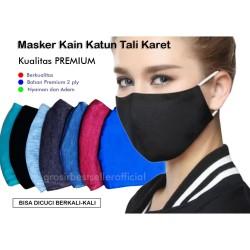 Masker Kain Katun 2 Ply Masker Kain Tali Karet Masker Kain Earloop - RANDOM
