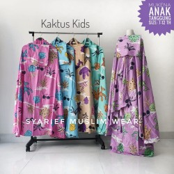 Mukena Anak Katun Bali Super - Model Setelan (100% Asli)