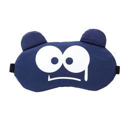Masker Penutup Mata untuk tidur Eye sleeping Mask Ice Gel motif - Navy