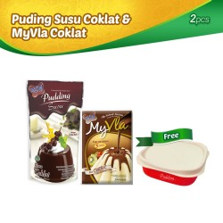 Pudding Susu Coklat & MyVla Coklat Free Lunch box