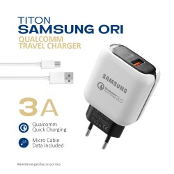 Travel Charger Titon Original Qualcomm Samsung - Fast Charging 3.0A