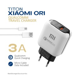 Travel Charger Titon Original Qualcomm Xiaomi - Fast Charging 3.0A