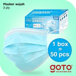 Disposable Masker 3 Ply Facemask Earloop