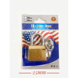 Gembok kecil kuning untuk tas / Kunci koper 20mm/25mm HAKAMITSU Murah - 25mm