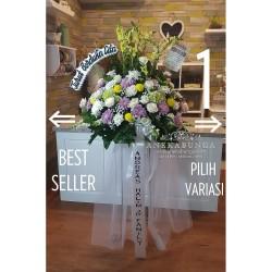 Standing Flower Besi Karangan Bunga Fresh Asli Duka Cita Condolences