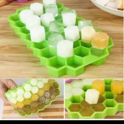 cetakan es batu silikon honey combs mold coklat jelly ice cube tray on