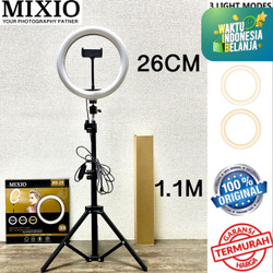 Ring Light 26cm + Light Stand Tripod 1.1M Selfie Vlogger Livestreamer - NO TAS