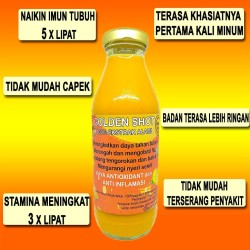 Suplemen herbal daya tahan tubuh | Golden Shot | 100% Alami