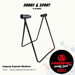Paddock Universal Standar Sepeda / Jagang Segitiga Duduk Lipat Alloy