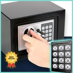 Taffware Brankas Mini Electric Password Safe Deposit Box 4.6L 17E