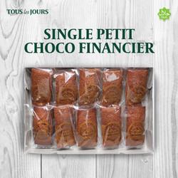 TOUS les JOURS Single Petit Choco Financier (ISI 10 PCS) - Chocolate
