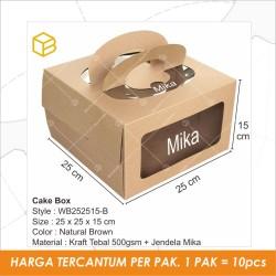 Box Kue Dus Kotak Cake Packaging Kemasan Bolu Window Jendela  WB252515