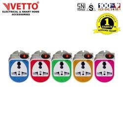 Oversteker/Steker Serbaguna/Universal Plug Vetto V801 Switch SNI