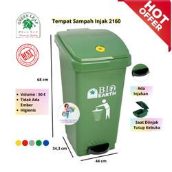 Tong sampah BIO injak 50 liter green leaf 2160 - Hijau