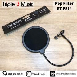 Recording Tech RT PS11 Pop Filter Dual Layer Triple 3 Music