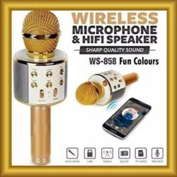 Mic Karaoke Mikrofon Wireless Bluetooth WSTER WS 858 Mic Smule