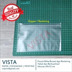 Plastik Zipper Ziplock Kantong Pouch Masker / Kosmetik Mika Uk 20x12